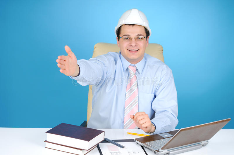 Man at work royalty free stock photography