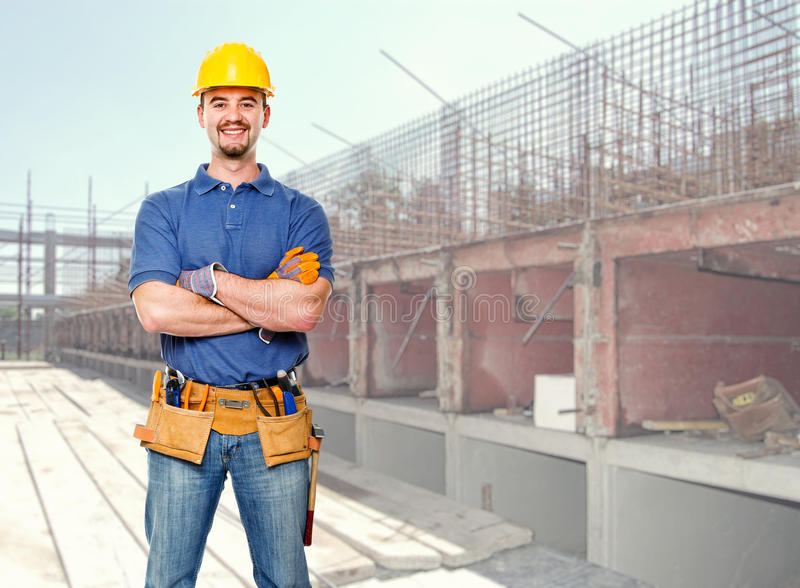 Download Man at work stock photo. Image of carpenter, adult, site - 25988598