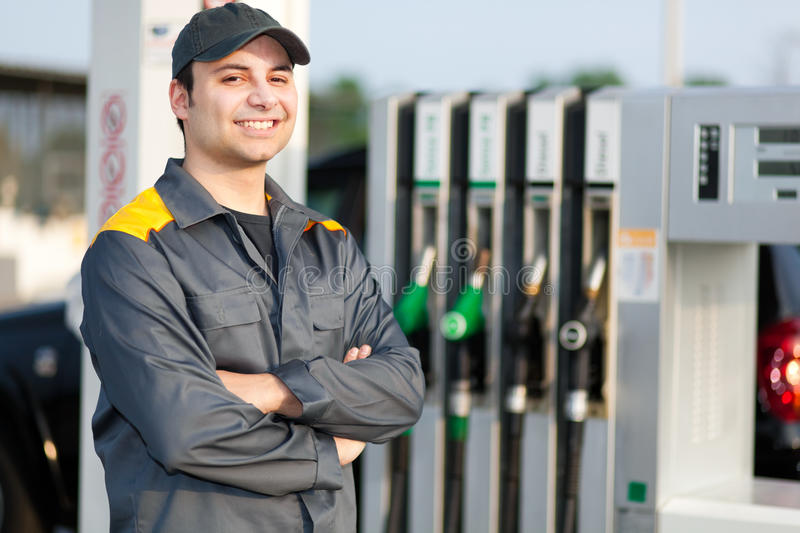 download man at work at a gas station stock image image of cost fuel