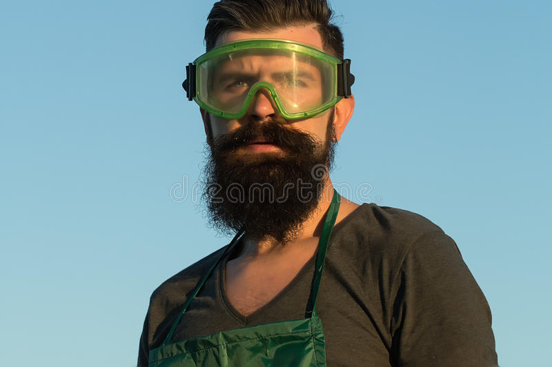 Man in work glasses royalty free stock photography
