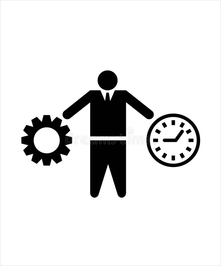 Man with time and work icon,vector best flat icon,best illustration design icon. Man with work icon,vector best flat icon,best illustration design icon,man icon vector illustration