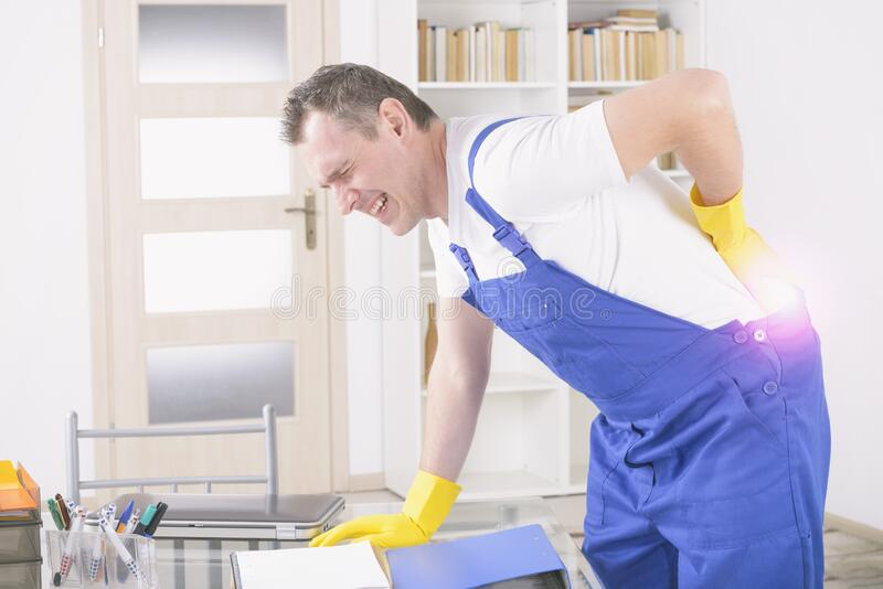 Accident at work royalty free stock photo