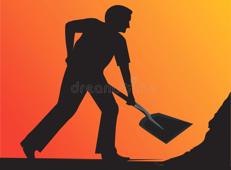 Man working vector illustration