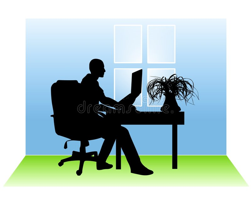 Download Man Working From Home stock illustration. Illustration of clip - 4504431