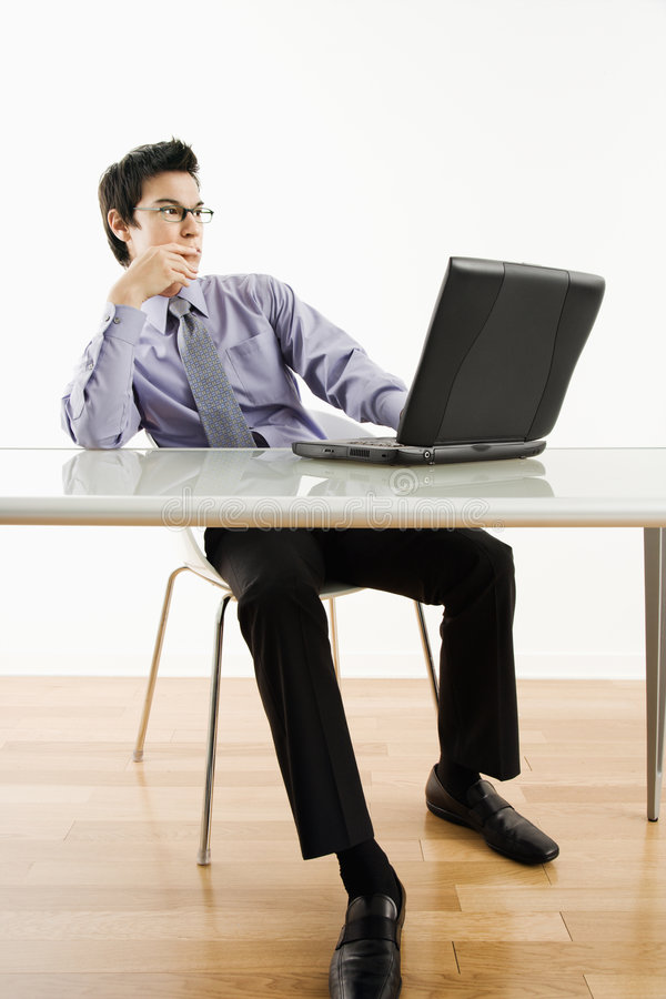 Download Man working on laptop. stock image. Image of office, people - 6153045