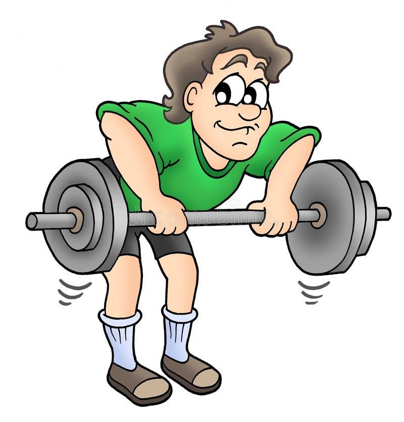 Man working out. Color illustration stock illustration