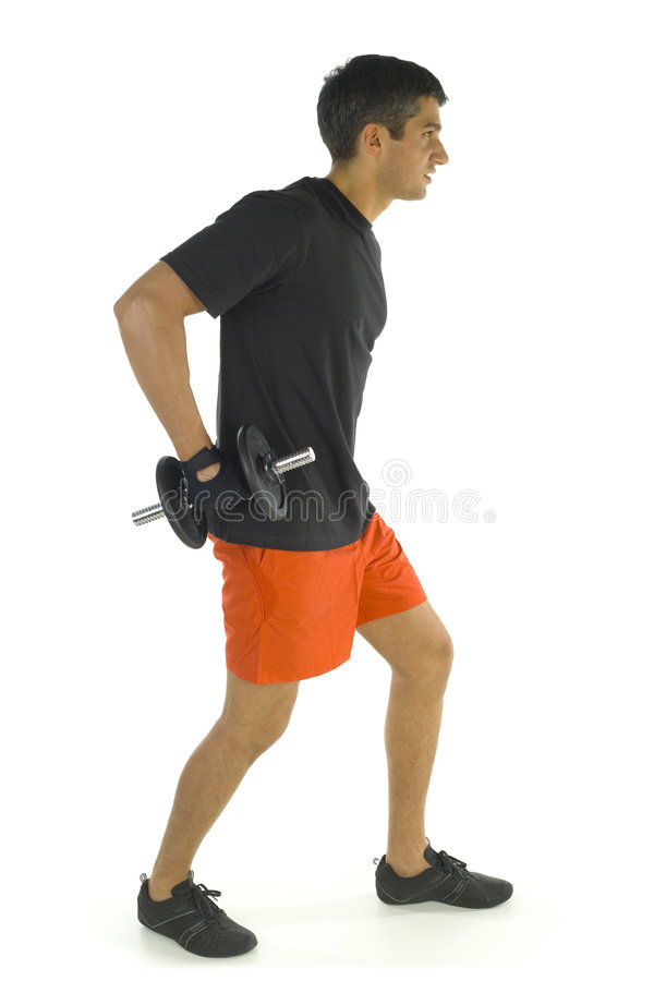 Man working out with dumbbell royalty free stock images