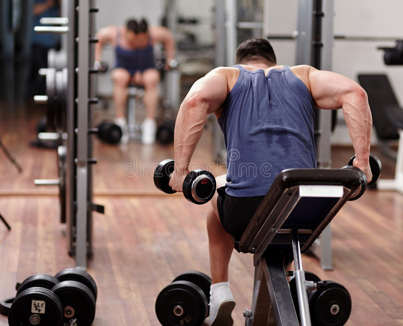 Download Man Working Out In Front Of The Mirror Stock Image - Image: 39983025