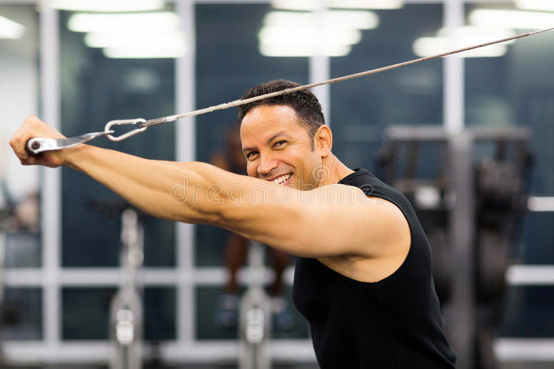 Man working out stock photos