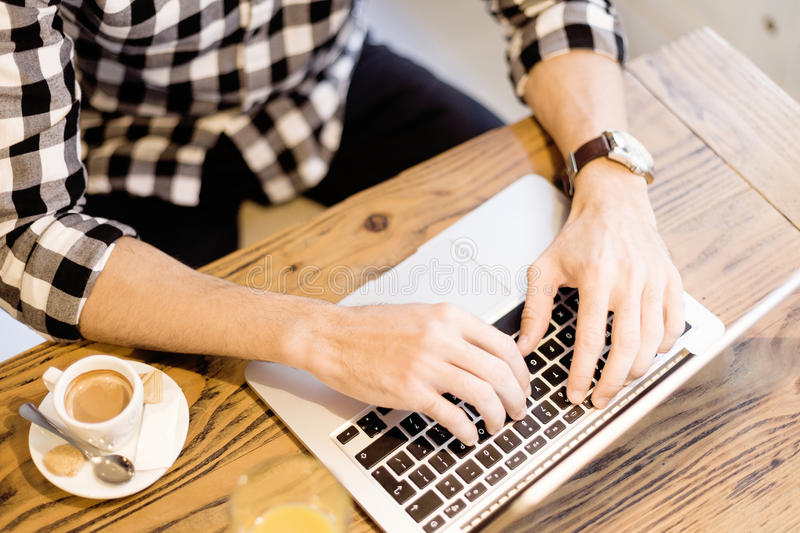 Man working outside office royalty free stock photography