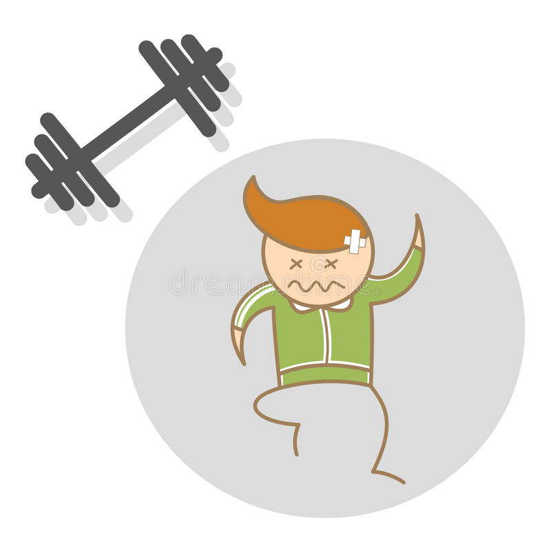 Download Man workout exhausted stock vector. Image of effort, cute - 28795679