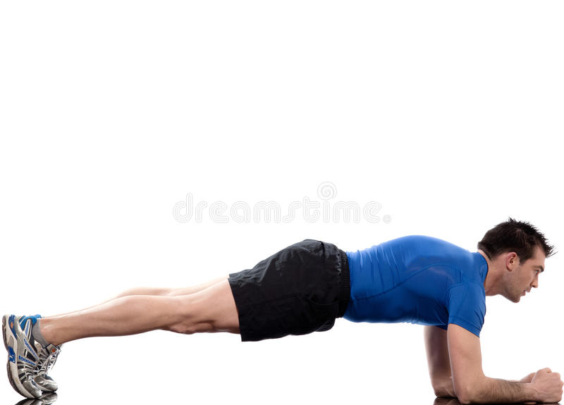 Man workout posture royalty free stock images