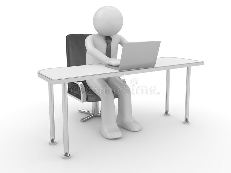Man at workplace stock images