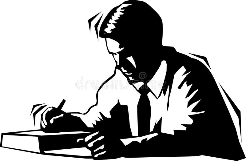 man writing down stock illustration illustration of down 79500955 rh dreamstime com Check Writing Clip Art Person Writing Clip Art