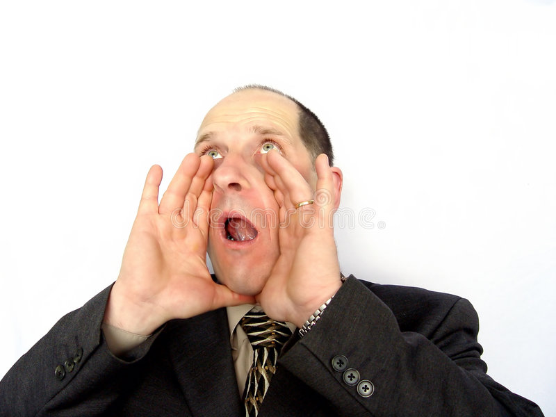Man Yelling royalty free stock photography