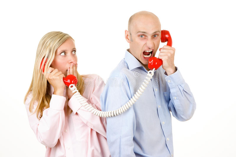 Download Man Yelling On Telephone Stock Photography - Image: 17986222