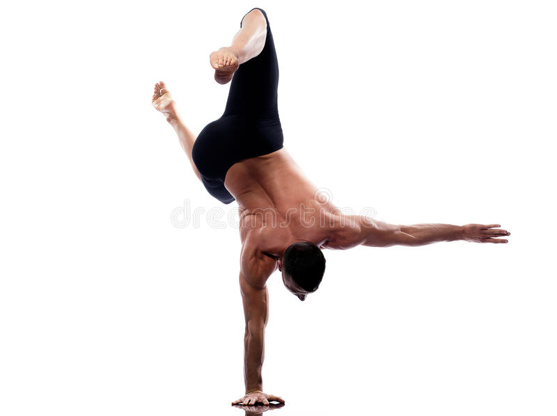 Download Man Yoga Handstand Full Length Gymnastic Acrobatic Stock Photo - Image: 23921730
