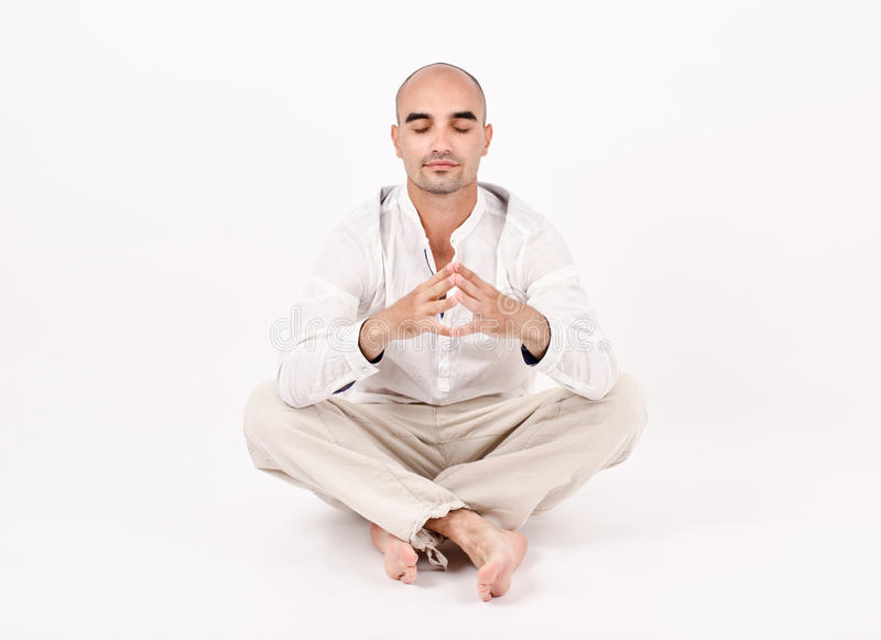 Download Man In Yoga Position. Stock Images - Image: 32366044