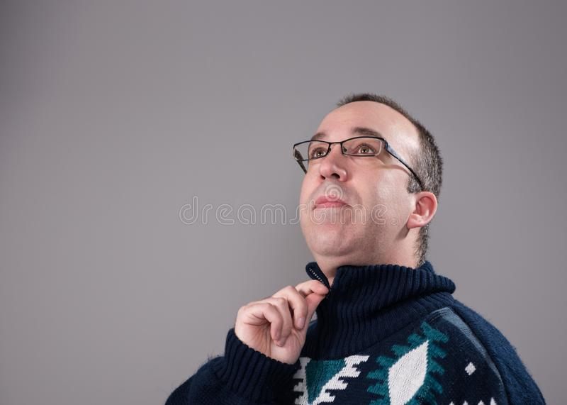 Man Wearing a Sweater royalty free stock photography