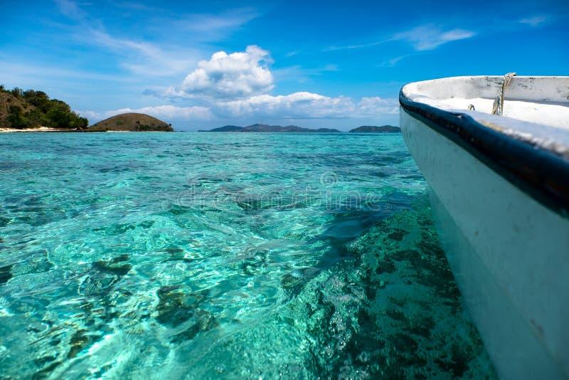 Mana Island in Figi fotografie stock