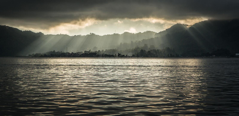 Manado, bord de mer de l'Indonésie photos libres de droits