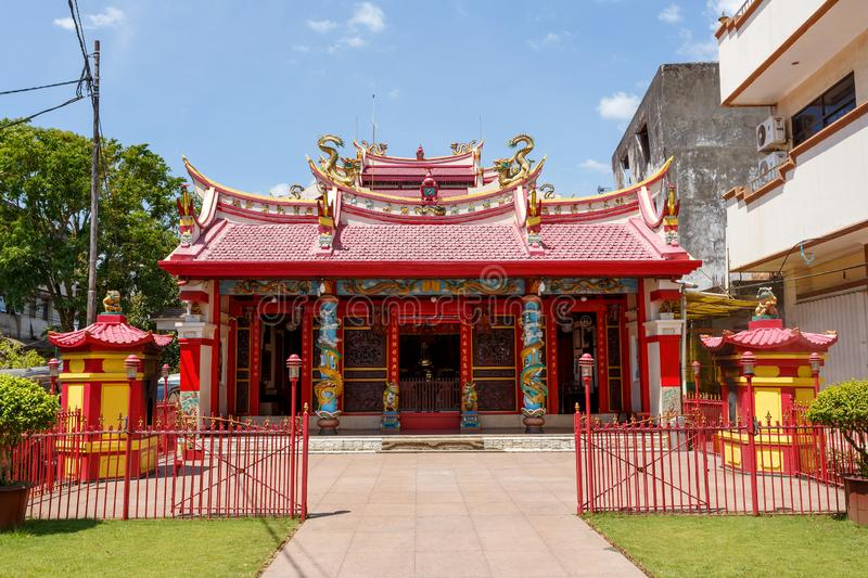 Ban Hin Kiong, Manado Indonesia. Manado, Indonesia - August 04 2015: Ban Hin Kiong, Taoist temple at jalan D.I. Panjaitan, Manado. It is the oldest temple in the stock photos