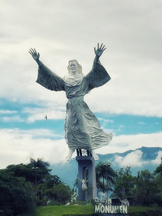 Giant Jesus Statue royalty free stock photo