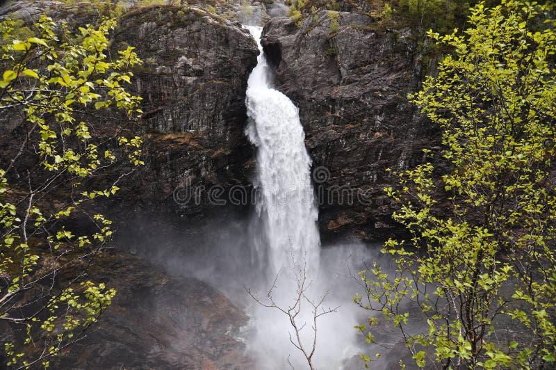 Manafossen,挪威 免版税库存图片