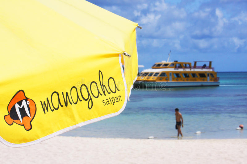 Managaha island. Important tourist object of Saipan - Managaha island stock images