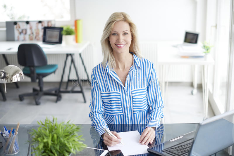 Manage her business royalty free stock images