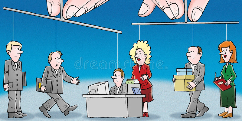 Management. A high resolution illustration for your design royalty free illustration