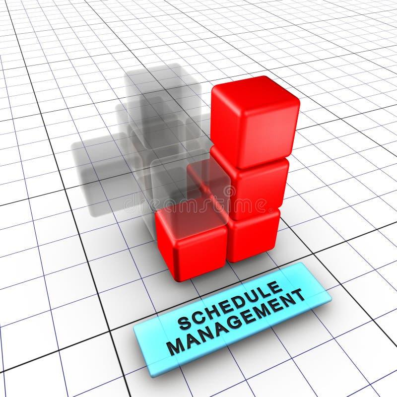 Management 6-Schedule (6/6) lizenzfreie abbildung