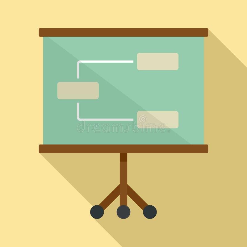 Management banner icon, flat style royalty free illustration