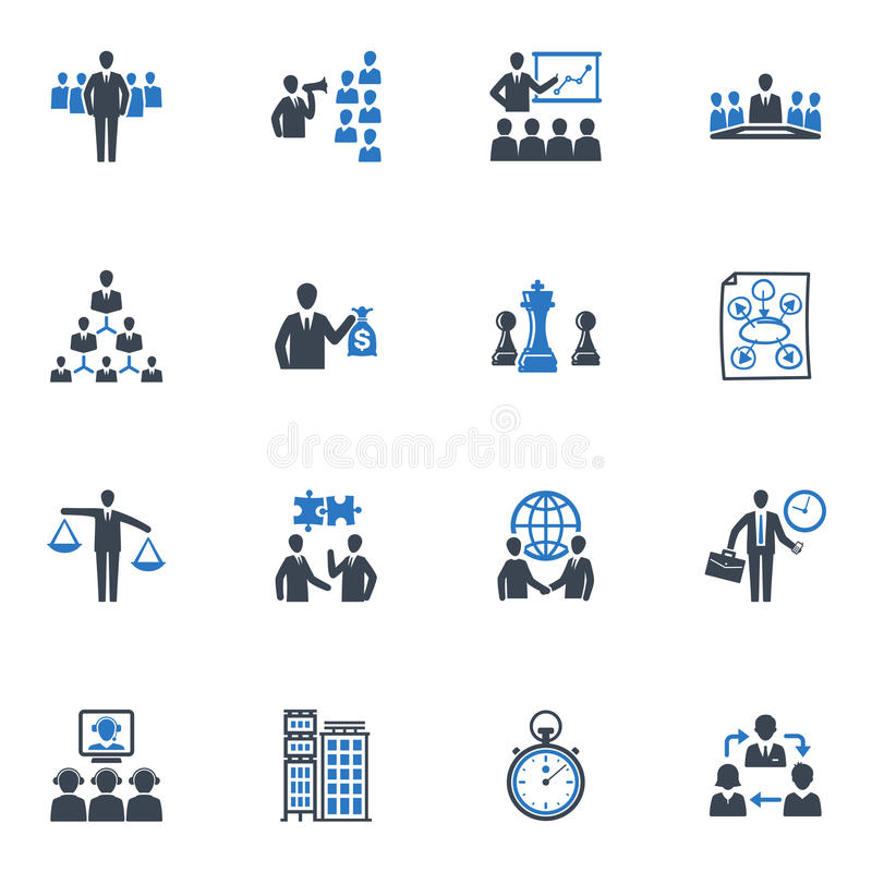 Management and Business Icons - Blue Series royalty free illustration