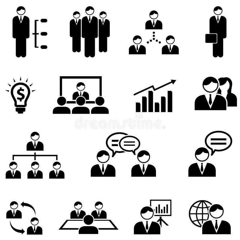Management and business web icon set royalty free illustration