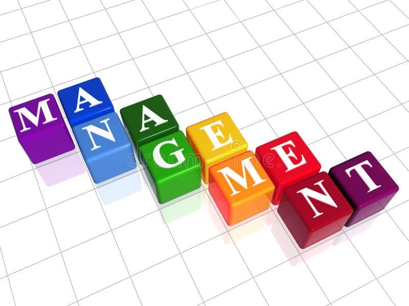 Management in colour vector illustration