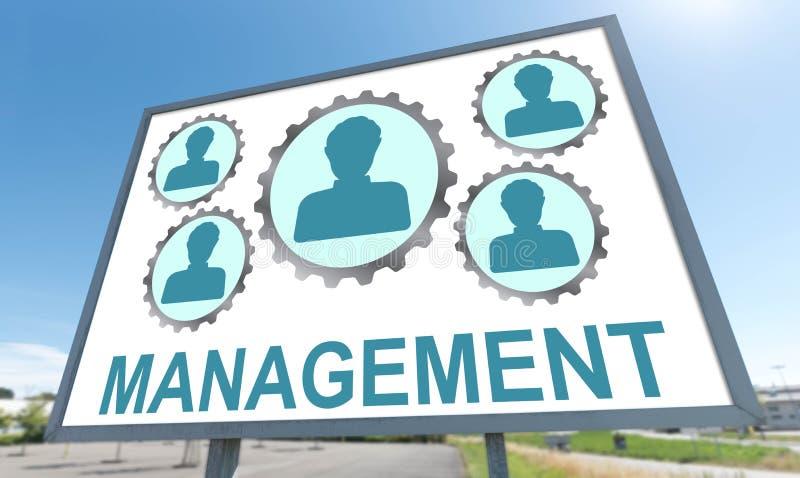 Management concept on a billboard. Management concept drawn on a billboard royalty free stock photography