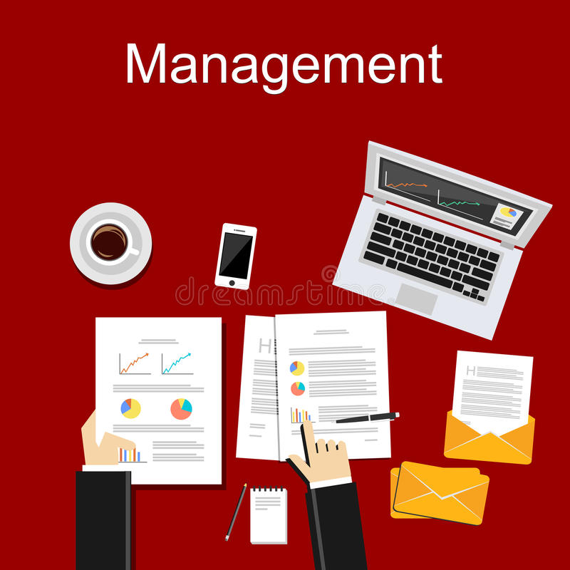 Management concept illustration. Business background royalty free illustration