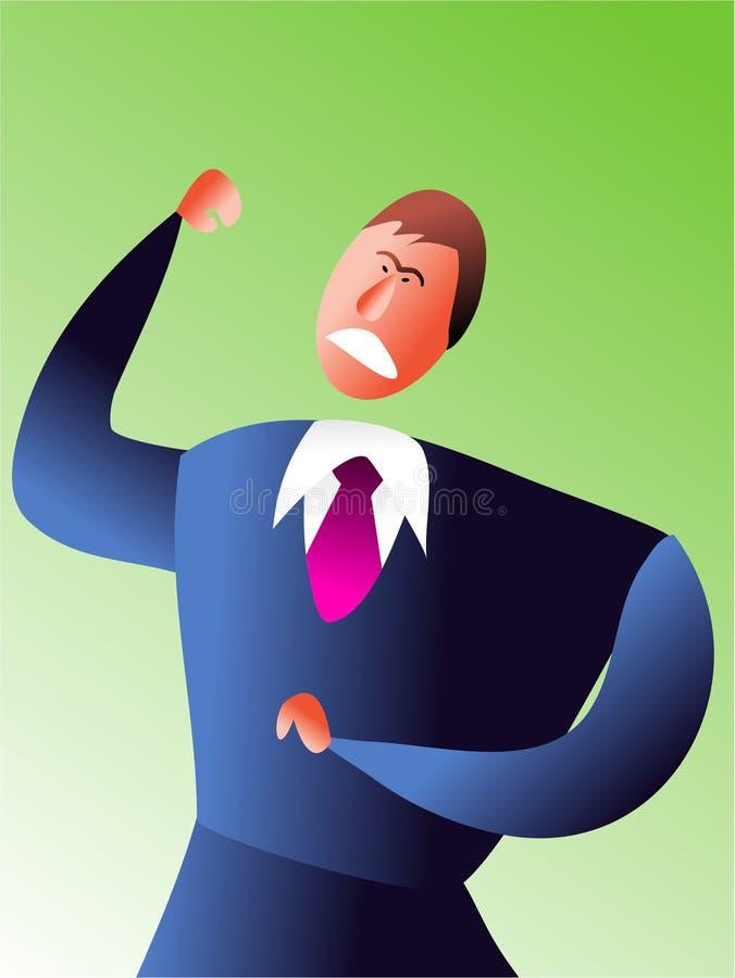 Management de colère illustration de vecteur