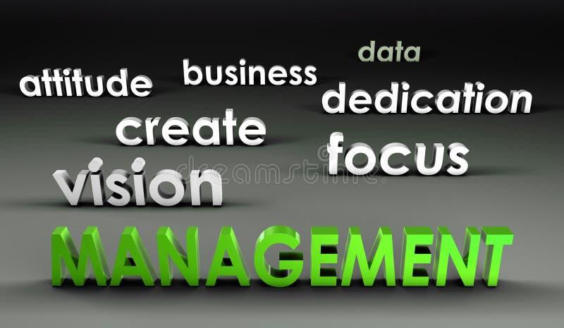 Management an der vordersten Reihe vektor abbildung
