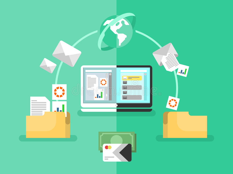 Management des elektronischen Dokuments stock abbildung