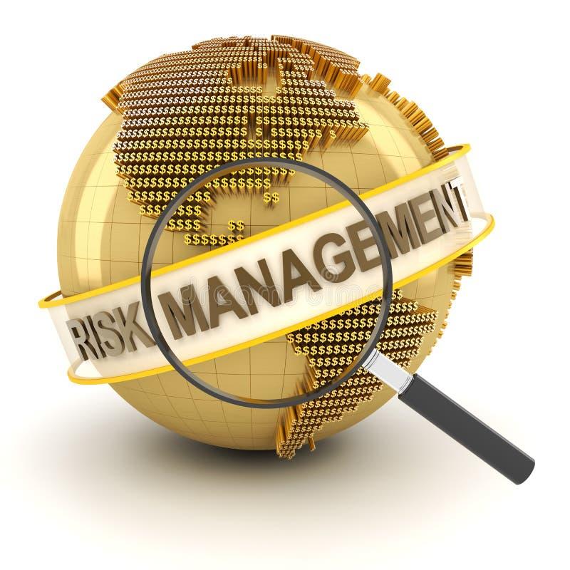 Management des finanziellen Risikos, 3d übertragen stock abbildung