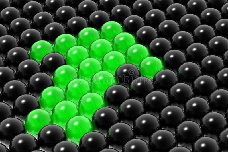 Management des Geschäftsteams lizenzfreie abbildung