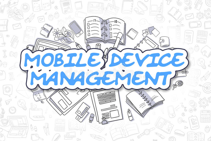 Management des tragbaren Geräts - Geschäfts-Konzept lizenzfreie abbildung