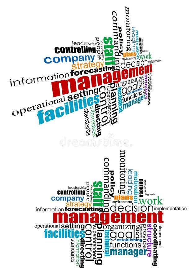 Management etikettiert Wolke lizenzfreie abbildung