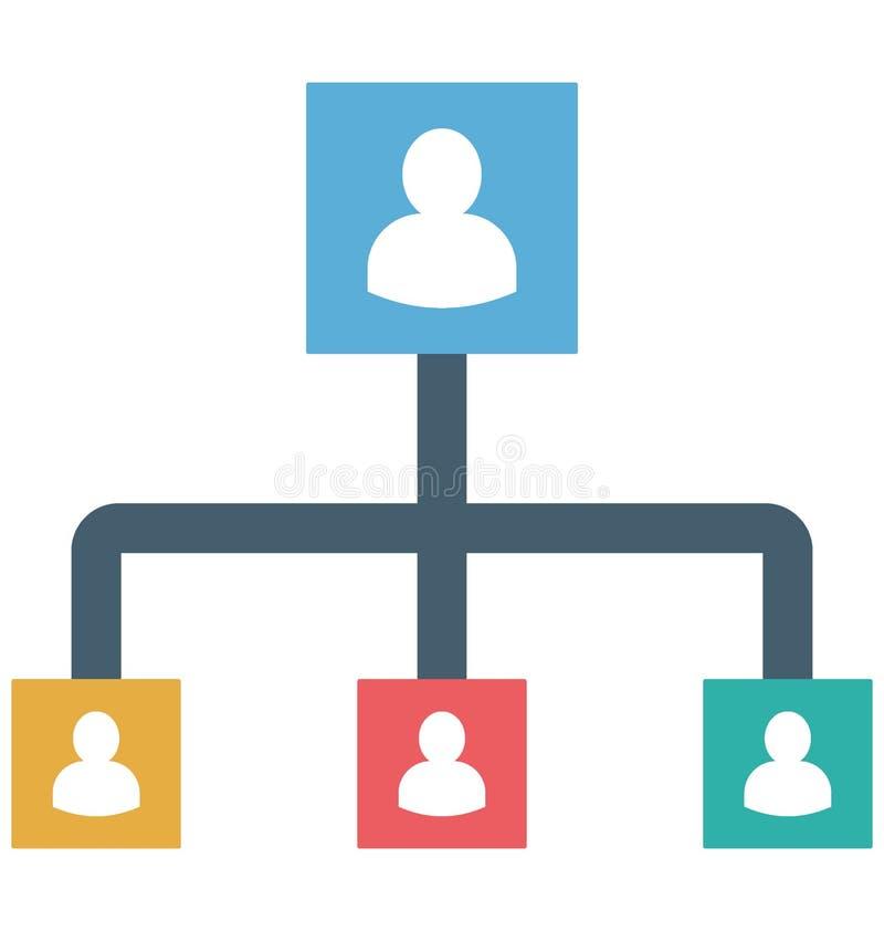 Management-Farbikone lokalisierte und Vektor, der leicht geändert werden oder redigieren kann vektor abbildung