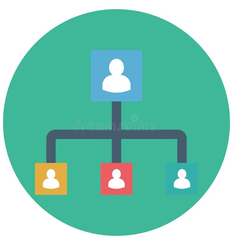 Management-Farbikone lokalisierte und Vektor, der leicht geändert werden oder redigieren kann lizenzfreie abbildung
