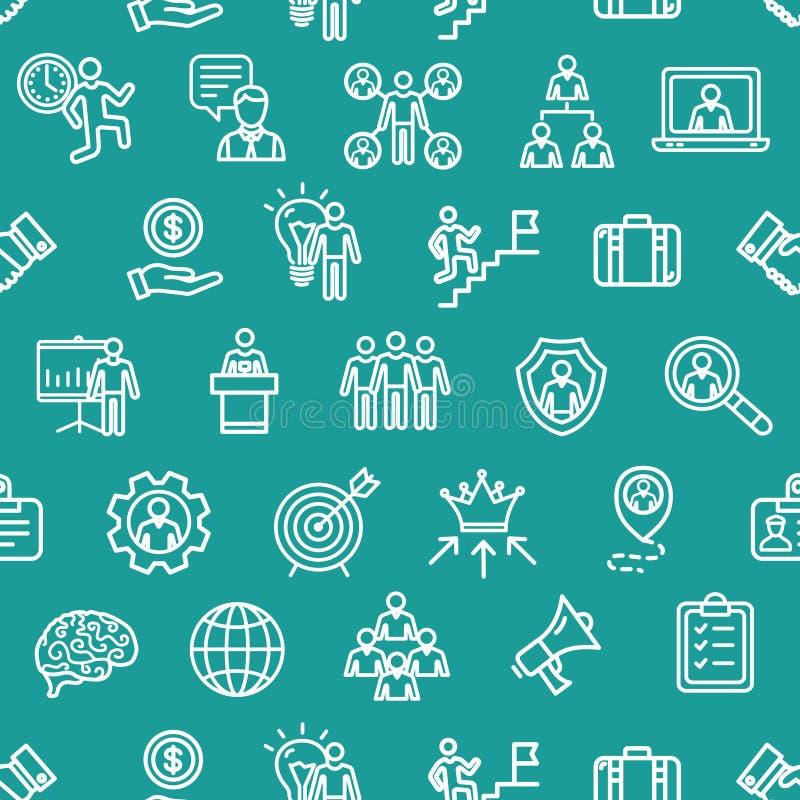 Management-Geschäfts-Muster-Hintergrund-Konzept Vektor lizenzfreie abbildung