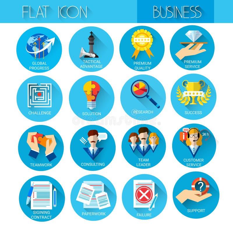Management-gesetzte Geschäfts-Ikonen-Sammlung lizenzfreie abbildung