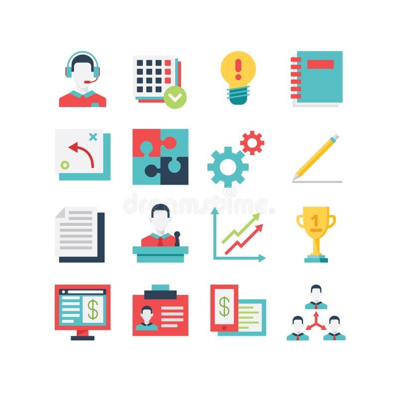 Management-Ikonen-Satz lizenzfreie abbildung